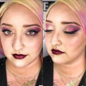 TSPA student with pink eyeshadow look